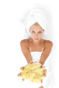 Luxus Badezimmer Naturschwamm Reinigung